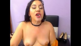 Latina Webcam Colombiana Se Corre Dandose Rico